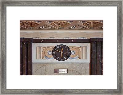 Clock - Art Deco - Interior Design Framed Print