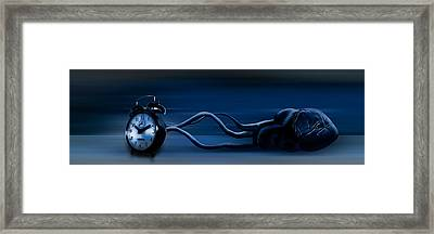 Clock Attached To Heart Framed Print by Panoramic Images