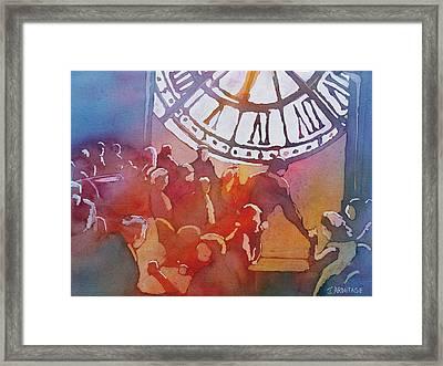 Clock Cafe Framed Print by Jenny Armitage