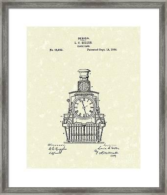 Clock Case 1886 Patent Art Framed Print by Prior Art Design