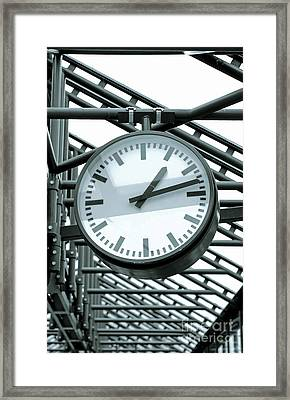 Clock Framed Print by Design Windmill