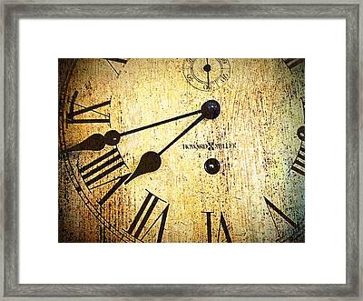 Clock Face Framed Print by Suzanne Powers