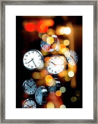 Clock Faces Framed Print by Victor Habbick Visions