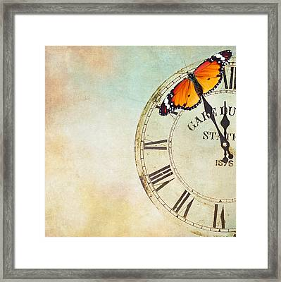 Clock Five To Twelve Framed Print by Heike Hultsch