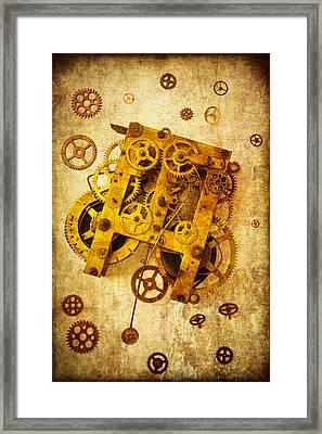 Clock Gears Framed Print