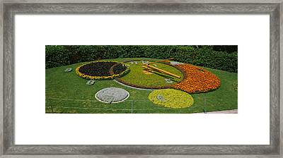 Clock In A Park, Geneva, Switzerland Framed Print by Panoramic Images