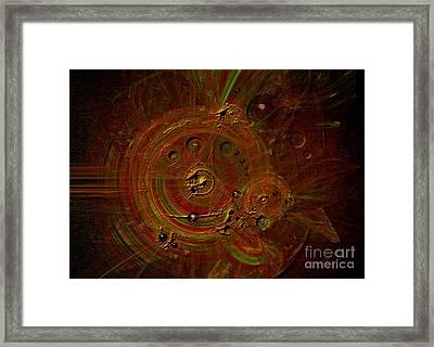 Framed Print featuring the digital art Clockwork by Alexa Szlavics