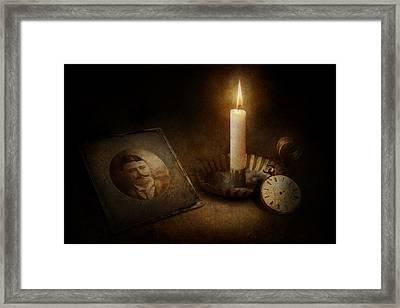 Clock - Memories Eternal Framed Print by Mike Savad