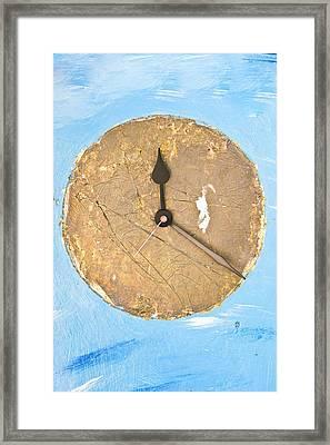 Clock Framed Print by Tom Gowanlock