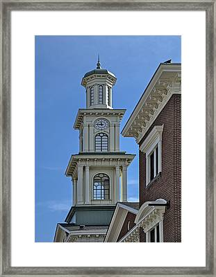 Clock Tower At Camden Station Framed Print