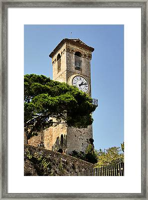 Clock Tower - Cannes - France Framed Print by Christine Till
