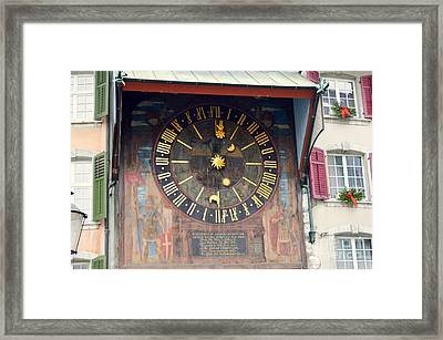 Clock Tower In Solothurn Framed Print