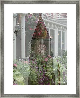 Framed Print featuring the photograph Clock Tower by George Mount