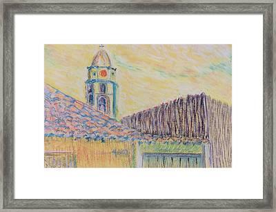 Clock Tower In Havana Cuba Framed Print
