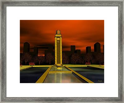 Clock Tower Framed Print by John Pangia