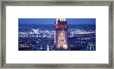 Clock Tower Of The Custom House Framed Print by Panoramic Images