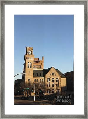Clock Tower Framed Print by Yumi Johnson