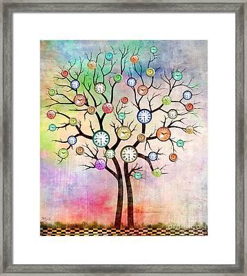 Clock Tree  Framed Print by Mark Ashkenazi