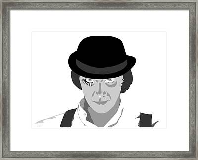 Clock Work Orange Malcolm Mcdowell Framed Print by Paul Dunkel