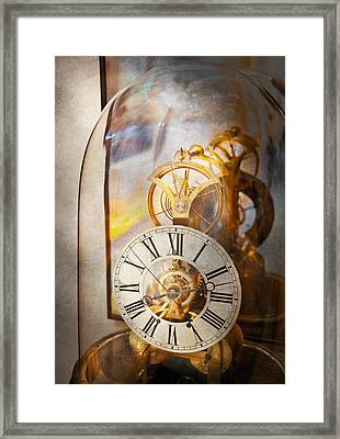Clockmaker - A Look Back In Time Framed Print by Mike Savad