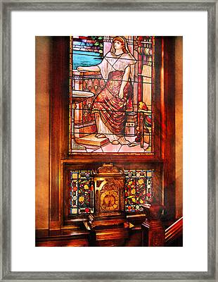 Clockmaker - An Ornate Clock Framed Print by Mike Savad