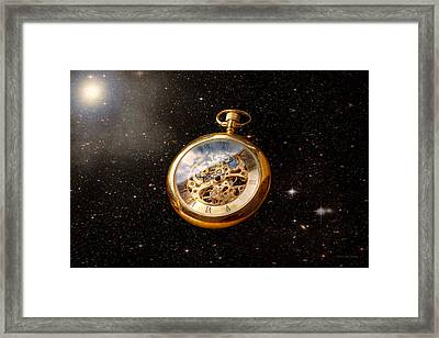 Clockmaker - Space Time Framed Print by Mike Savad