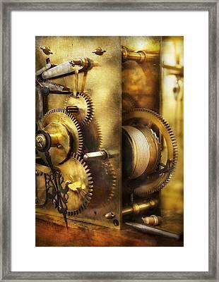 Clockmaker - We All Mesh Framed Print