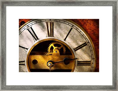 Clockmaker - What Time Is It Framed Print by Mike Savad