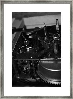 Clocks Black And White Framed Print