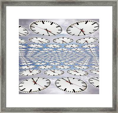 Clocks Framed Print by Victor De Schwanberg