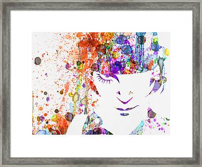 Clockwork Orange Watercolor Framed Print by Naxart Studio