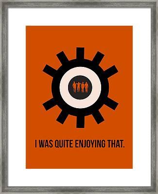 Clockwork Poster Framed Print by Naxart Studio
