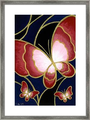 Cloisonne Butterfly Framed Print