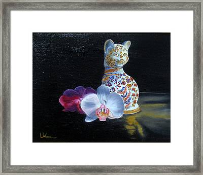 Cloisonne Cat Framed Print
