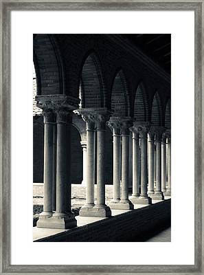 Cloister Of A Church, Cloitre Des Framed Print by Panoramic Images
