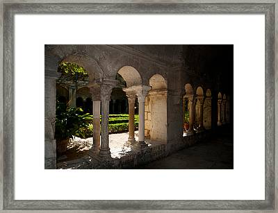 Cloister Of Ancient Monastere Framed Print by Panoramic Images