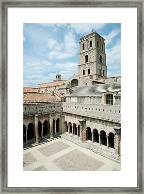 Cloister Of St. Trophime, Church Of St Framed Print by Panoramic Images
