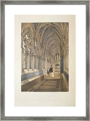Cloister Of The Mediaevel Court Framed Print