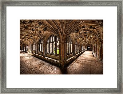 Cloisters At Lacock Abbey Framed Print