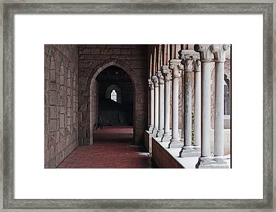 Cloisters Snow 5 Framed Print