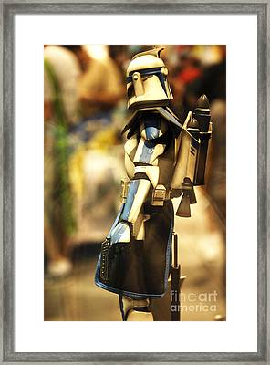 Clone Trooper Framed Print by Micah May