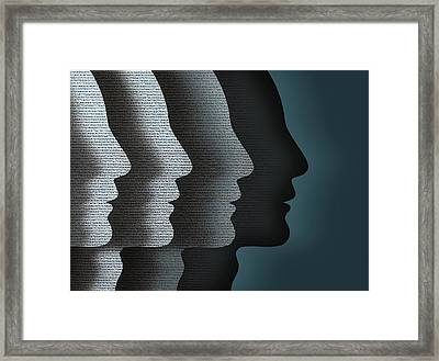 Cloned Faces Framed Print