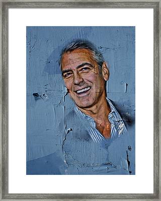 Clooney On Board Framed Print