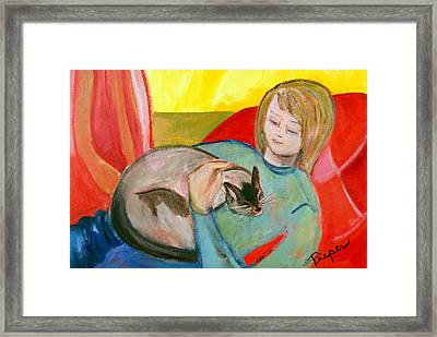 Close At Heart Framed Print