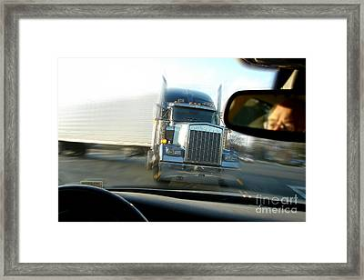 Close Call Framed Print by Olivier Le Queinec