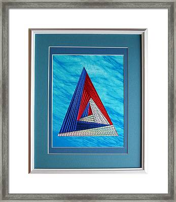 Framed Print featuring the mixed media Close Encounter by Ron Davidson