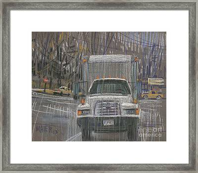 Close-out Delivery Truck Framed Print by Donald Maier