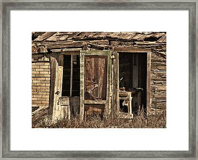 Close The Door Behind You Framed Print