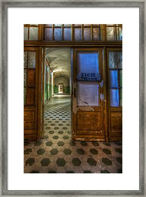Close The Door Framed Print by Nathan Wright