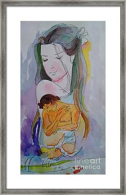 Close To Heart Framed Print by Chintaman Rudra